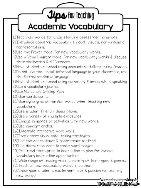 Building vocabulary academic vocabulary sassy savvy for Construction vocabulary