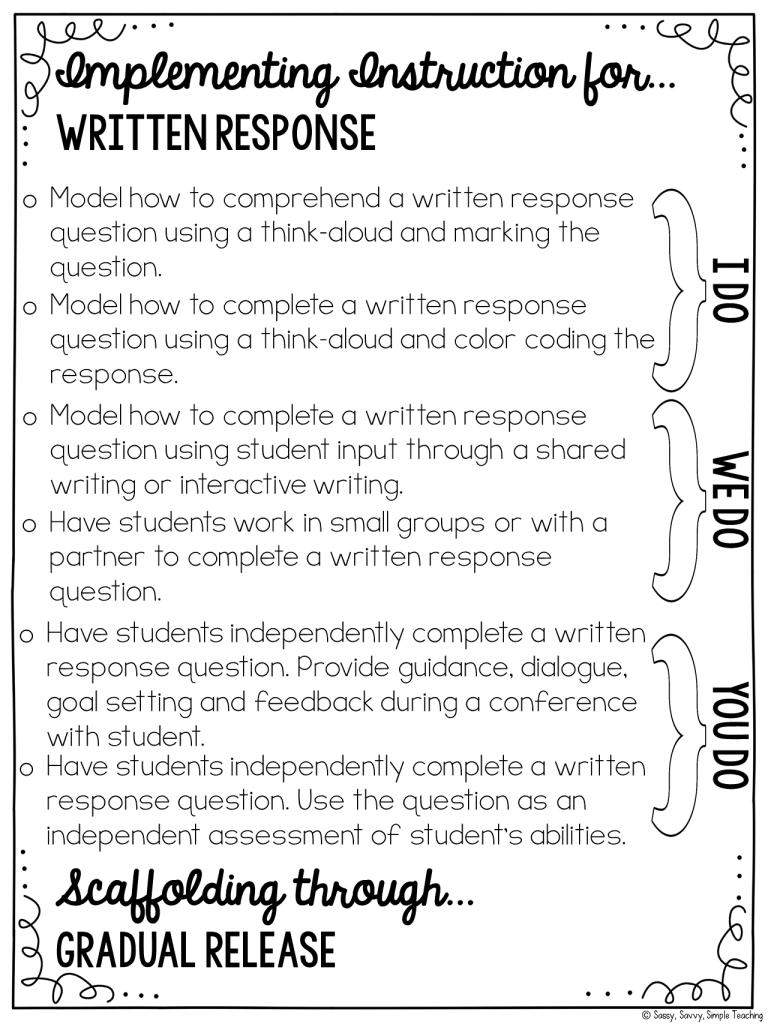 Instruction for Written Response