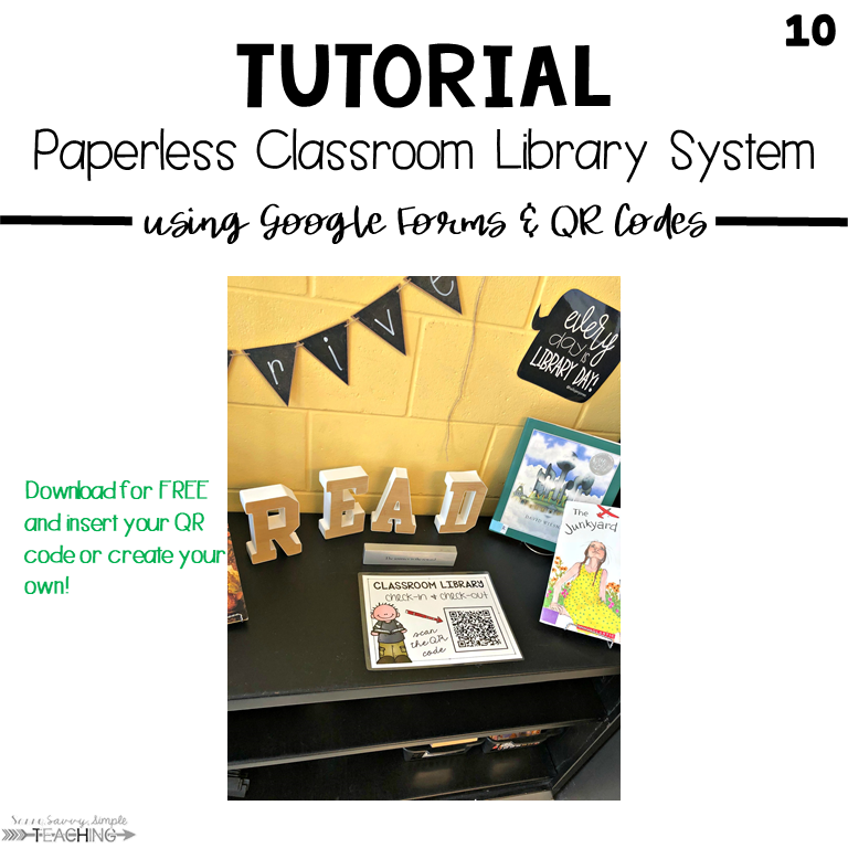 10 Steps to a Paperless Classroom Library System - Sassy